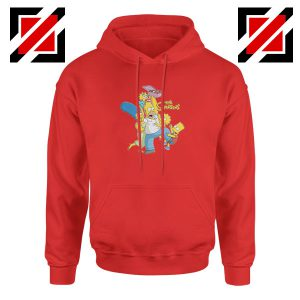 Simpson Family Loves Donuts Red Hoodie