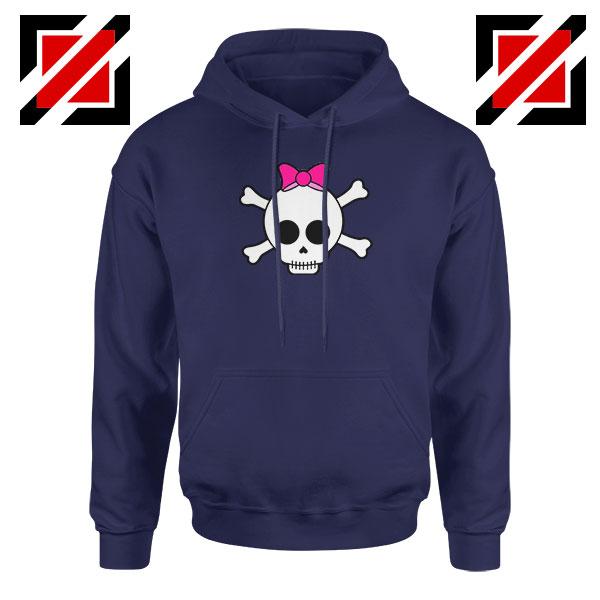 Skull Crossbones Navy Blue Hoodie