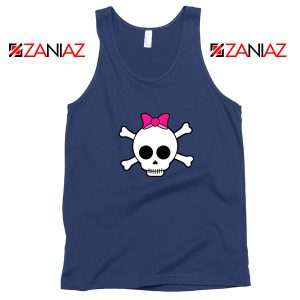 Skull Crossbones Navy Blue Tank Top