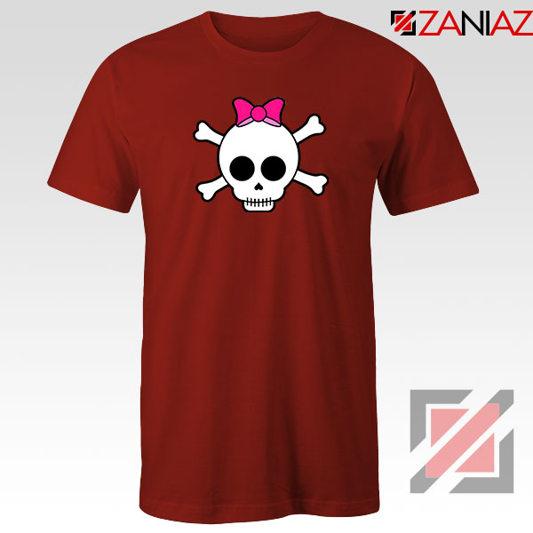 Skull Crossbones Red Tshirt