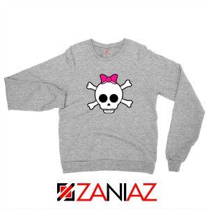 Skull Crossbones Sport Grey Sweatshirt