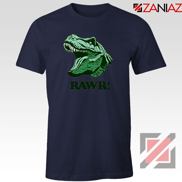 T Rex RAWR Navy Blue Tshirt