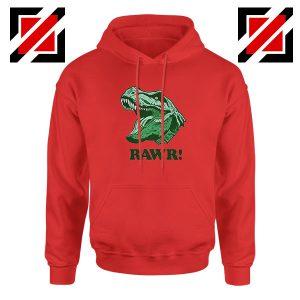 T Rex RAWR Red Hoodie