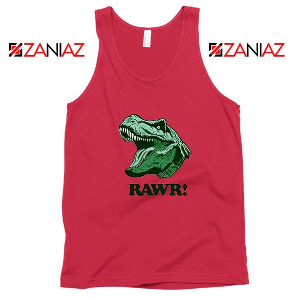 T Rex RAWR Red Tank Top