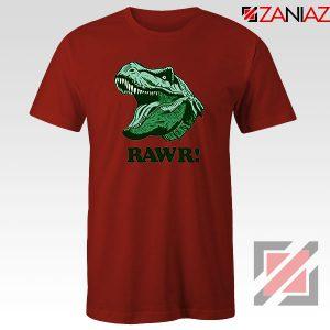 T Rex RAWR Red Tshirt