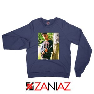 Tay K Ready To Spark Up Navy Blue Sweatshirt