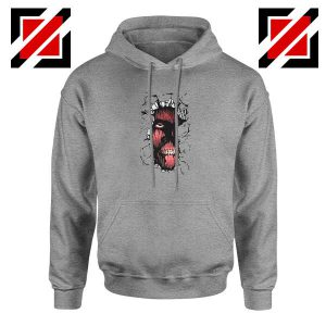 Titan In The Wall Sport Grey Hoodie