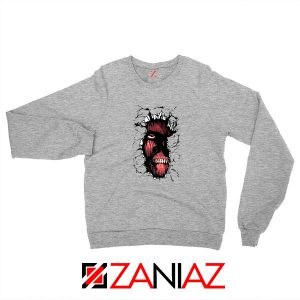 Titan In The Wall Sport Grey Sweatshirt