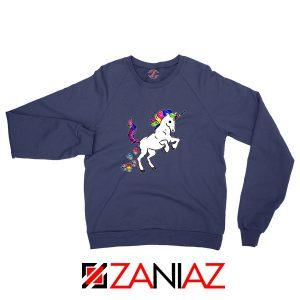 Unicorn Cupcakes Navy Blue Sweatshirt