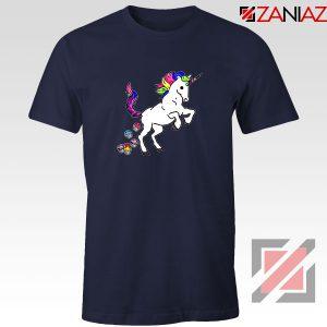 Unicorn Cupcakes Navy Blue Tshirt