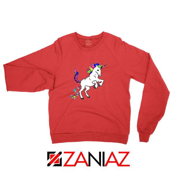 Unicorn Cupcakes Red Sweatshirt