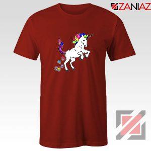 Unicorn Cupcakes Red Tshirt