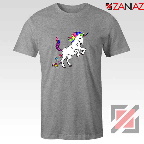 Unicorn Cupcakes Sport Grey Tshirt
