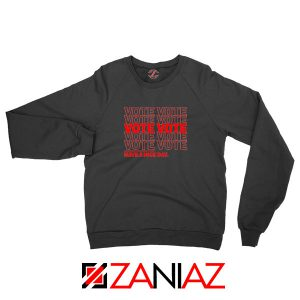 Vote Graphic Black Sweatshirt