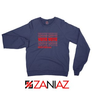 Vote Graphic Navy Blue Sweatshirt