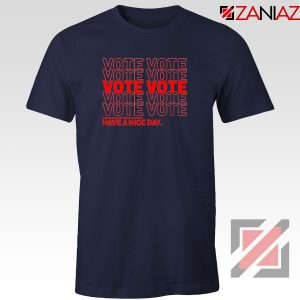 Vote Graphic Navy Blue Tshirt