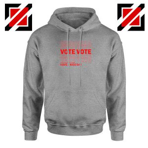 Vote Graphic Sport Grey Hoodie