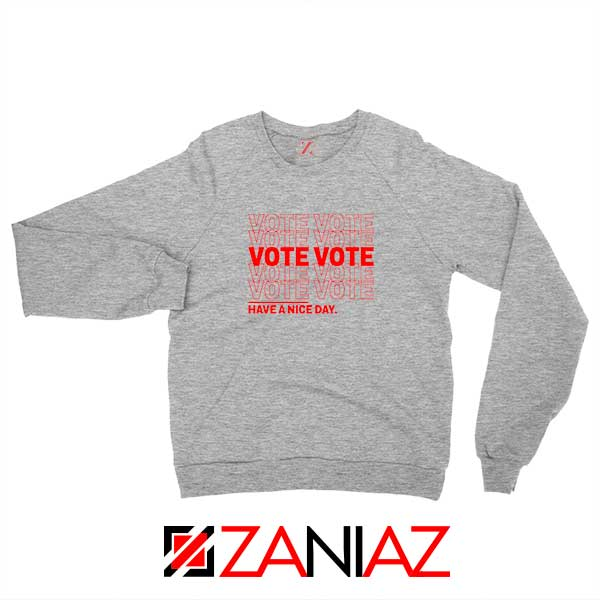Vote Graphic Sport Grey Sweatshirt
