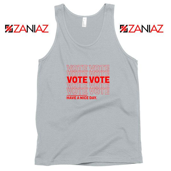 Vote Graphic Sport Grey Tank Top