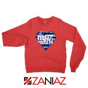 Yankees Superman Red Sweatshirt