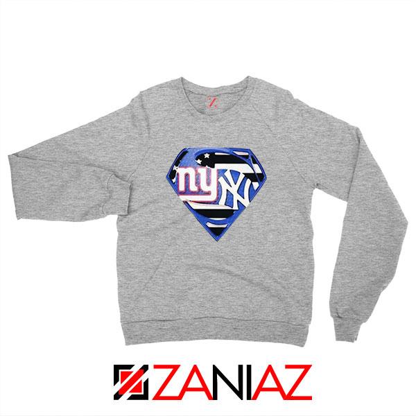 Yankees Superman Sport Grey Sweatshirt