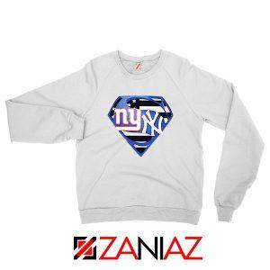 Yankees Superman White Sweatshirt