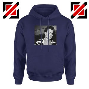 Young Johnny Depp Navy Blue Hoodie