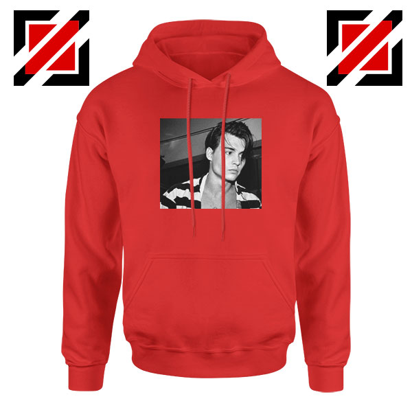 Young Johnny Depp Red Hoodie