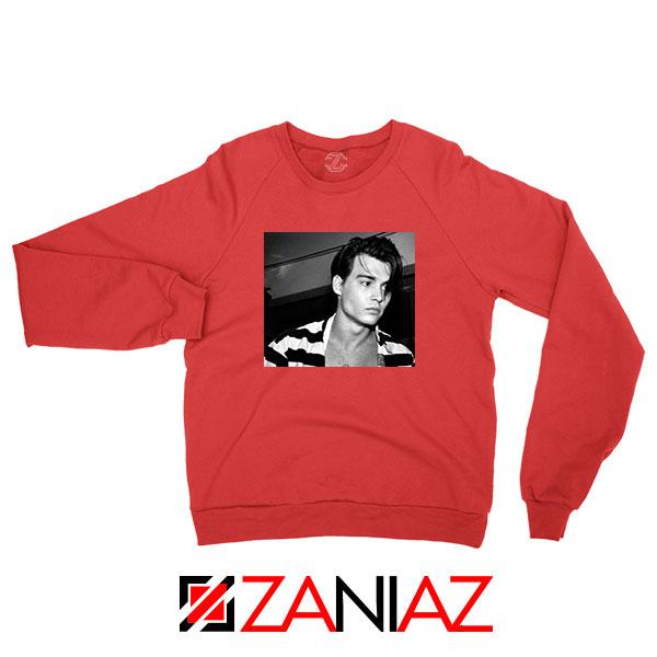 Young Johnny Depp Red Sweatshirt