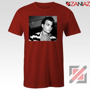 Young Johnny Depp Red Tshirt
