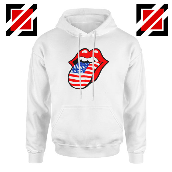 American Flag Tongue and Lips Hoodie