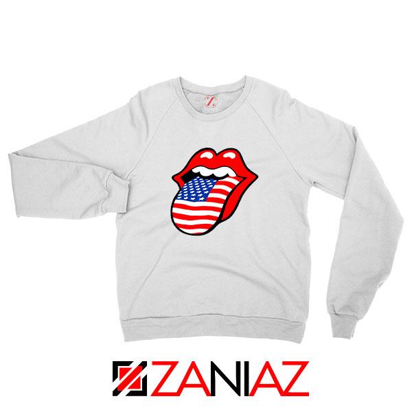 American Flag Tongue and Lips Sweatshirt