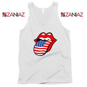 American Flag Tongue and Lips Tank Top