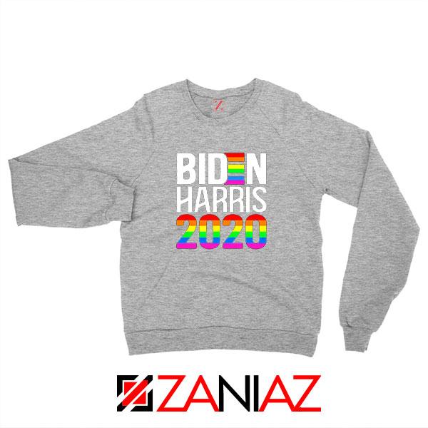 Biden Haris 2020 Rainbow Sport Grey Sweatshirt