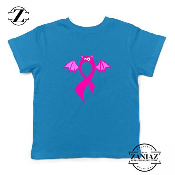 Breast Cancer Awareness Kids Blue Tshirt