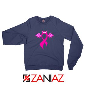 Breast Cancer Awareness Navy Blue Sweatshirt
