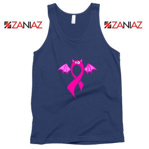 Breast Cancer Awareness Navy Blue Tank Top