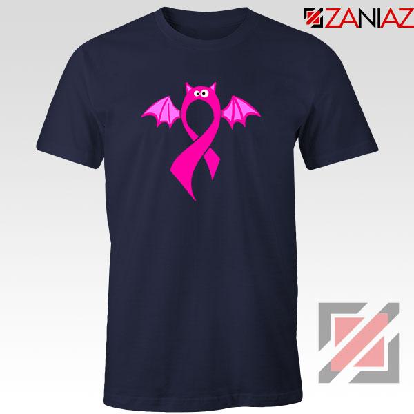 Breast Cancer Awareness Navy Blue Tshirt