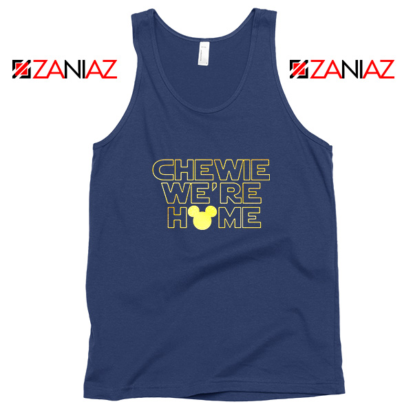 Chewie We Are Home Navy Blue Tank Top