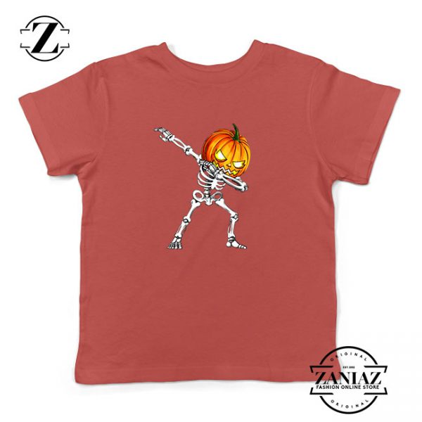 Dabbing Pumpkin Kids Red Tshirt