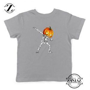 Dabbing Pumpkin Kids Sport Grey Tshirt