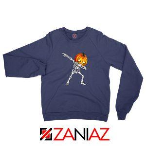 Dabbing Pumpkin Navy Blue Sweatshirt