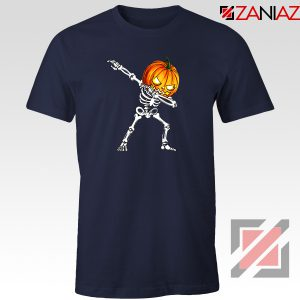 Dabbing Pumpkin Navy Blue Tshirt