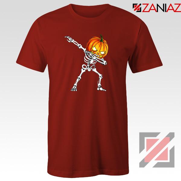 Dabbing Pumpkin Red Tshirt