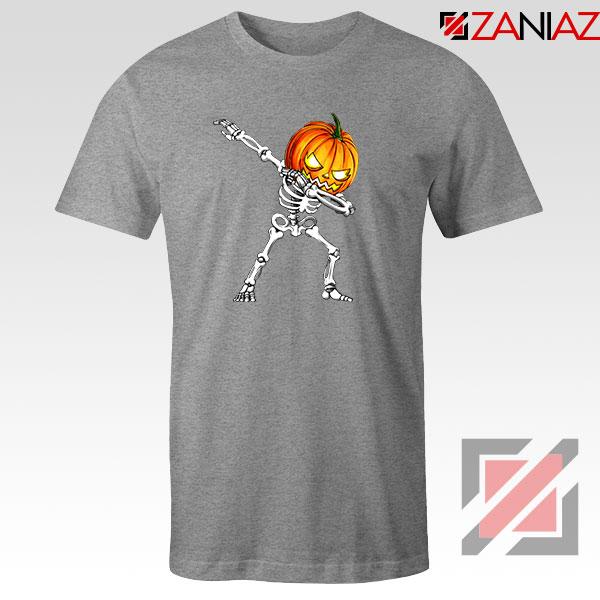 Dabbing Pumpkin Sport Grey Tshirt