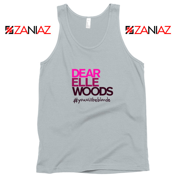 Dear Elle Woods Sport Grey Tank Top