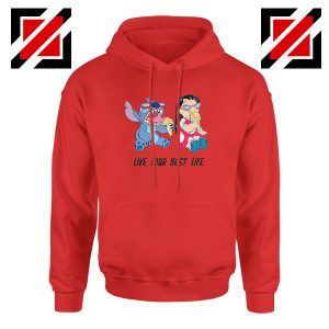 Disney Lilo and Stitch Red Hoodie