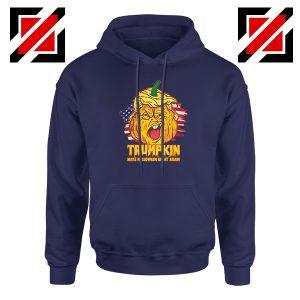 Donald Trumpkin Navy Blue Hoodie