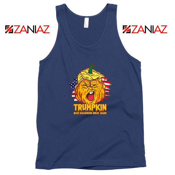Donald Trumpkin Navy Blue Tank Top