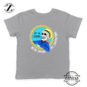 Get In Losers Skull Drive Kids Sport Grey Tshirt